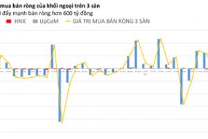 Phiên 22/2: Khối ngoại bán ròng hơn 600 tỷ đồng trên HOSE